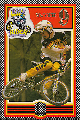 Vintage 1980/'s Ultimate BMX Bike Happy 8th Birthday Greeting Card ~ 8 Years Old