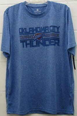 huge discount e14c9 b5a1b Men s NBA Oklahoma City Thunder Performance T Shirt Kevin Durant Blue Large  New
