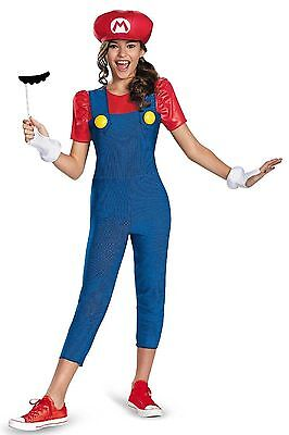Super Mario Brothers Tween Mario Girl Costume - MEDIUM - Girls Mario Kostüm