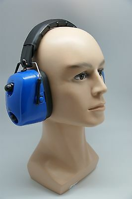 Fm Radio Ear Protector Ear Muffs Hearing Noise Blue