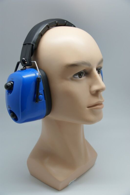 FM Hearing Protector Earmuffs Radio Mowing Work Headphone Blue