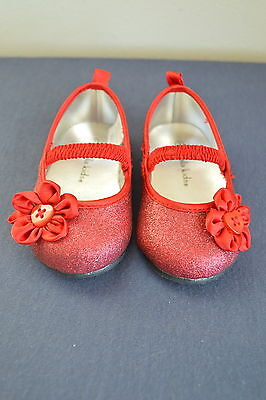 Toddler Dorothy (Toddler Girls Sz 3 Koala Kids Red Glitter Shoes Button Flower Dorothy Wizard Oz)