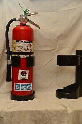 Universal 10 Fire Extinguisher Black Plastic Vehicle Bracket