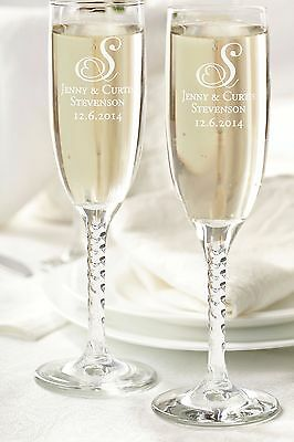 PERSONALIZED WEDDING OR SPECIAL OCCASION TOASTING GLASSES-BRIDE-GROOM-PARTY](Wedding Toast Glasses)