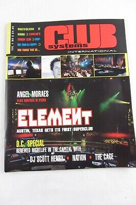 Used, CLUB SYSTEMS INTL Magazine 2000 - Angel Moraes DJ Scott henry Element The Cage for sale  Shipping to India