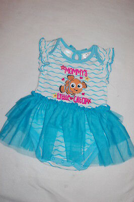 Baby Girls FINDING NEMO DRESS Turquoise White MOMMYS CATCH Tulle Skirt 12 MO - Finding Nemo Dress