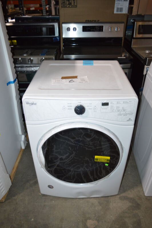 Whirlpool 7.4 Cu. Ft. 8-Cycle Electric Dryer with Steam White WED85HEFW