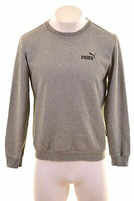 PUMA Mens Sweatshirt Jumper Medium Grey Cotton  CO14