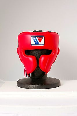 Winning FG-2900 Headgear Face guard Type  Size:Large, color: Red