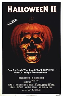 Movie Poster 1982 John Carpenter's Halloween II With Jamie Lee Curtis (3 - Halloween Movie With Jamie Lee Curtis