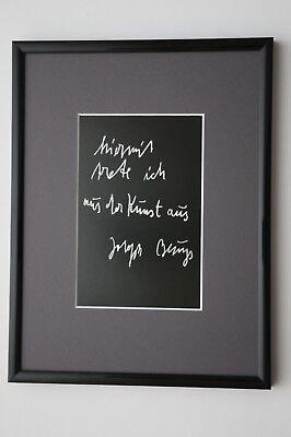 """JOSEPH BEUYS: Originalgrafik """"trete aus"""" mit Rahmen und Passepartout"""