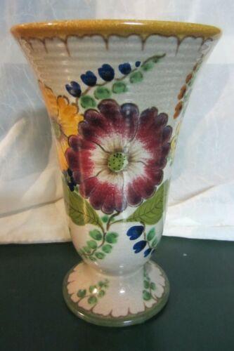 Vintage Royal Gouda Holland Ceramic  Vase Signed