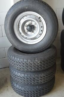 4  SET RIMS AND TYRE LIGHT TRUCK 185/R14 NEAR NEW Virginia Brisbane North East Preview