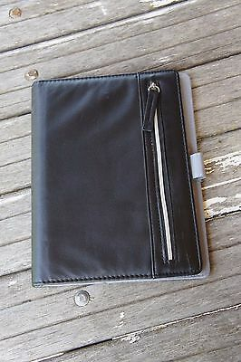 Franklin Covey 365 Classic Size Spiral Binder Cover Outside Zipper Pocket Black