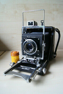 Busch Pressman 2 1/4 x 3 1/4 Wollensak Raptar 101mm f/4.5 Kalart