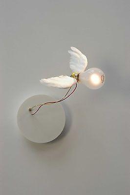 Ingo Maurer Lucellino NT Glas Messing Weiß Wandleuchte Flügel