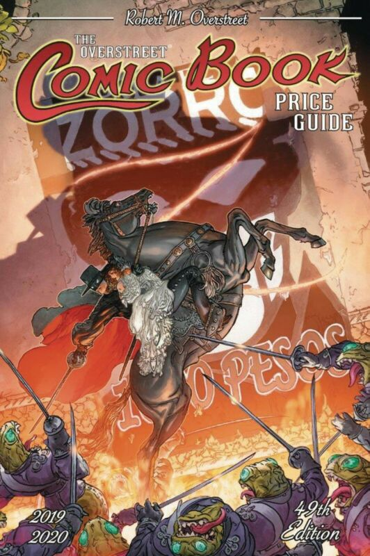 OVERSTREET 2019 2020 COMIC BOOK PRICE GUIDE #49 SOFTCOVER Hall Fame Zorro CVR SC