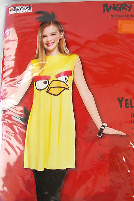 Angry Birds Yellow Bird Girls Teen Costume 7-8 12-14 NWT ()