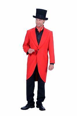 Kostüm edler roter Frack Herren bis Gr.60 rote Jacke Gehrock Karneval - Frack Jacke Kostüm