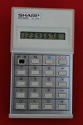 SHARP ELSIMATE EL-208 CALCULATOR - FULL WORKING CONDITION WITH BOX!