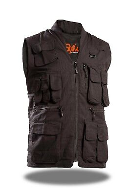 Mens Tactical Vest Hunting Multi Pocket Sleeveless Utility Zip Shooting Travel -