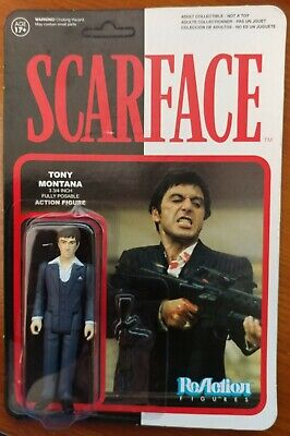 SCARFACE Tony Montana Al Pacino 3.75 Funko Super7 Reaction Figure