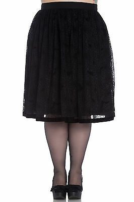 Hell Bunny Plus Size Gothic Black Spiderweb Bats Halloween Tulle Skirt 2X 3X 4X (Plus Size Black Tulle Skirt)