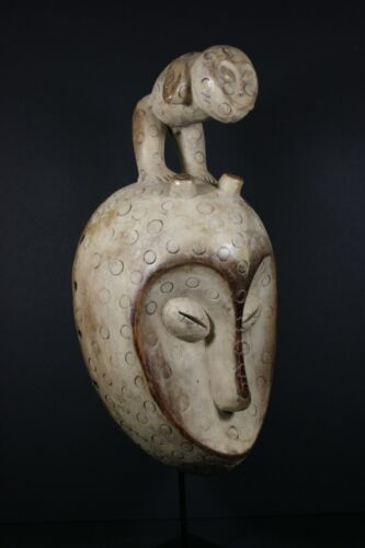 African Bwami Initiation Mask, Fable Figure - LEGA tribe D.R. Congo, TRIBAL ART