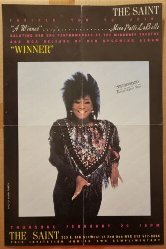 Patti LaBelle at The Saint 1986 poster