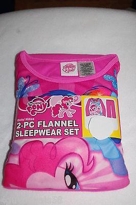 Mlp Pajamas (Girls Pajamas MY LITTLE PONY 2 Pc Flannel Set L/S SHIRT & PANTS Pink SIZE)