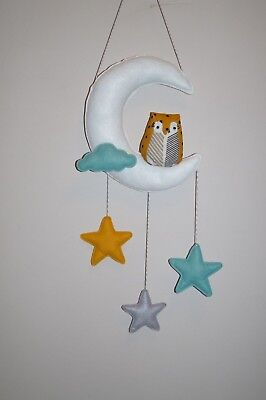 Owl nursery room decor wall decor White Moon and stars,shower gift various - Moon And Stars Baby Shower Decorations