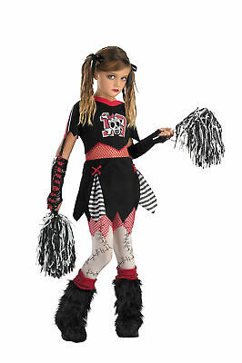 Cheerless Leader Child Girls Costume Shorts Halloween Fancy Dress Up Disguise