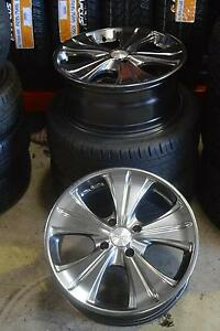 "4 SET 17"" SPORT ALLOY WHEELS WITH TYRES 4x114.3 + GOOD CONDIYTION Virginia Brisbane North East Preview"