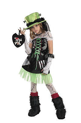 Monster Bride Cute Child Girls Costume Scary Fancy Dress Halloween Disguise
