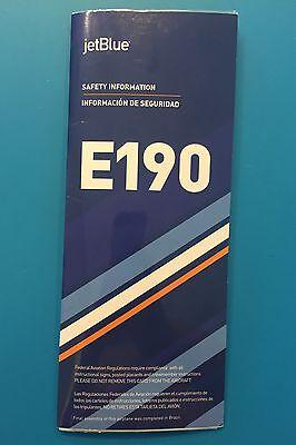 Jetblue Airways Safety Card   E190  Newest Version