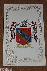 Vintage-Postcard-Bangor-Wales-Crest-Heraldic-Series