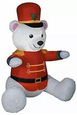 7 Ft Teddy Bear (CHRISTMAS Toy SOLDIER NUTCRACKER TEDDY BEAR  AIRBLOWN INFLATABLE 7 FT)