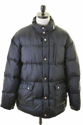 ICEBERG Mens Padded Jacket IT 52 XL Black Nylon  ER20