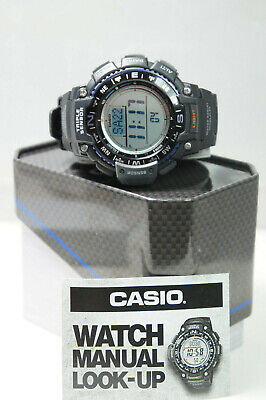 CASIO Mens SGW1000-1A Triple Sensor Compass Altimeter Thermom Barometer Watch