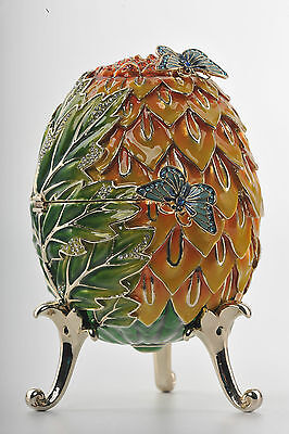 0Big  butterfly egg  Trinket Box by Keren Kopal Faberge Egg Austrian Crystal