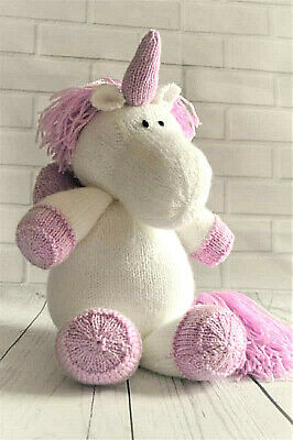 Toy Knitting Pattern SPRINKLE THE UNICORN Knit Your Own Soft Toy - PATTERN ONLY