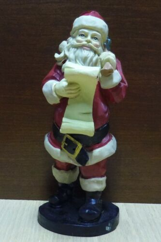 Windsor Collection Santa With Toy Sack In Box Reading His List