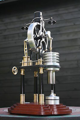Stirlingmotor Heißluftmotor + LED Wirbelstrom Generator Hot Air Engine Stirling