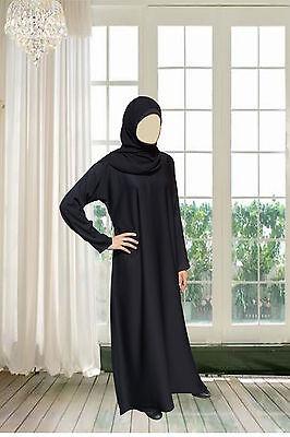 PLAIN *NIDA* Quality Abaya Black Hijab Kaftan Muslima Jalabiya Islamicdress