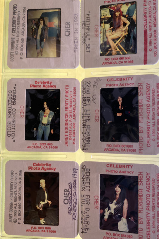 Cher Paparazzi Photo Color Slides 10 Different from the 1980