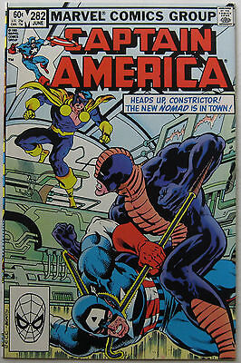 Captain America #282 (Jun 1983, Marvel), NM, 1st print, Bucky becomes new Nomad