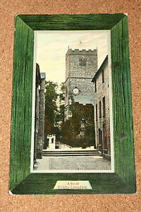 Vintage-Postcard-A-Bit-of-Kirkby-Lonsdale-St-Mary-Church-Cumbria-1915