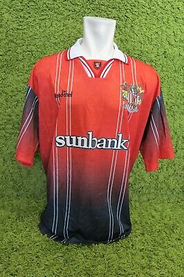 1998 1999 2000 STEVENAGE BOROUGHT HOME FOOTBALL SHIRT VANDANEL XXL 2XL RED BLACK image