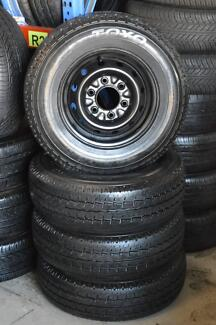 4 SET HILUX RIMS WITH TYRE 195/R14 LIGHT TRUCK + MINT CONDITION Virginia Brisbane North East Preview