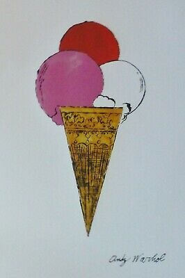 ANDY WARHOL ICE CREAM RED/PINK/WHITE LIMITED EDITION 5000  - Andy Warhol Ice Cream
